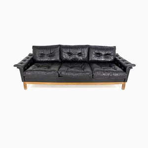 Vintage Swedish Leather Sofa, 1960s