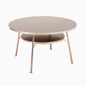 Mid-Century Swiss Metal Chromed Coffee Table