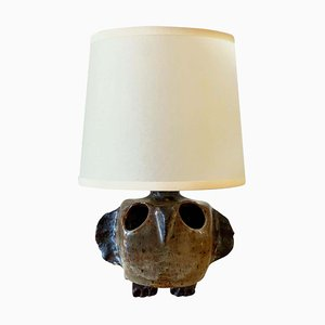 Mid-Century French Ceramic Owl Table Lamp