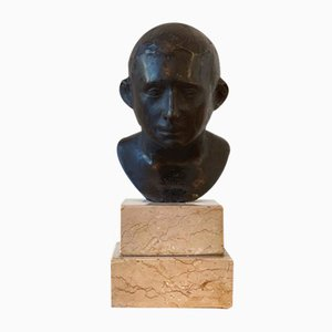 Vintage Bronze Bust, 1940s