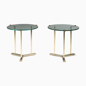 Vintage Brass Side Tables from Peter Ghyczy, 1980s, Set of 2