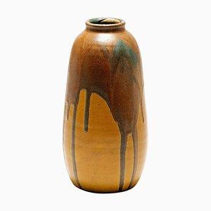 Vase Art Déco en Céramique Vernie par Leon Pointu