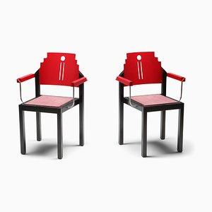 Vintage Esszimmerstühle im Stil von Charles Rennie Mackintosh, 1980er, 6er Set