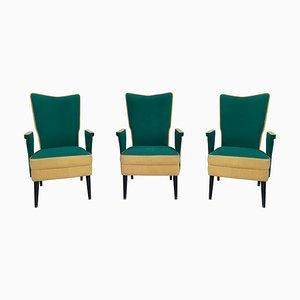 Italienische Mid-Century Sessel, 1950er, 3er Set