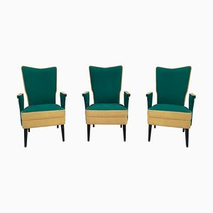 MId-Century Italian Armchairs, 1950s, Set of 3