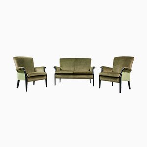 Vintage Lounge Chairs and Sofa Set from Parker Knoll, 1960s, Set of 3