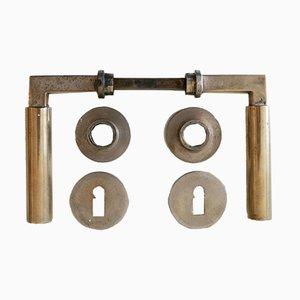 Maniglie Bauhaus in bronzo di Walter Gropius & Adolf Meyer per Wehag, Die Wilhelm Engstfeld AG, anni '30, set di 9