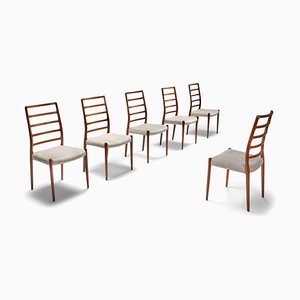 Vintage Danish Rosewood Model 82 Dining Chairs by Niels Otto Møller, 1970s, Set of 6