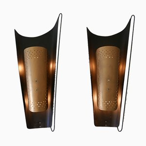 Large Mid-Century German Sconces from Karl Walther Nachf., 1950s, Set of 2