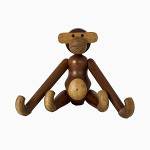Teak Monkey Figurine by Kay Bojesen, 1950s