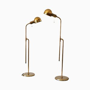 Mid-Century Model Bola Reading Floor Lamps from Florian Schulz, 1970s, Set of 2