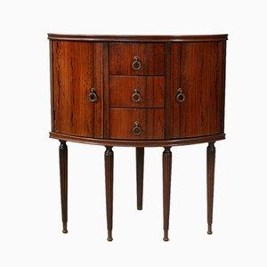 Mid-Century Rosewood and Mahogany Veneer Corner Cabinet