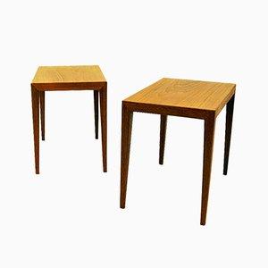 Danish Teak Side Tables by Severin Hansen for Haslev Møbelsnedkeri, 1950s, Set of 2