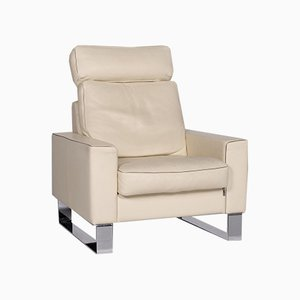 CL 400 Cream Leather Armchair with Function from Erpo