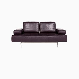 Dono Purple Leather 2-Seat Sofa from Rolf Benz