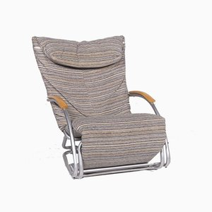 Swing Plus Grey and Colorful Fabric Lounger with Relax Function from Bonaldo