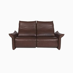 Brown Leather 3-Seat Sofa with Function from Machalke