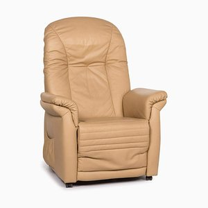 Leather Armchair in Beige with Relax Function from Himolla