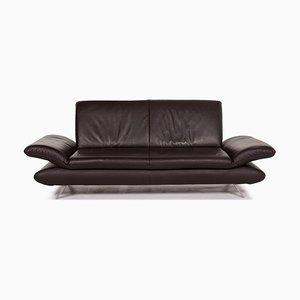 Braunes Rossini Leder 2-Sitzer Sofa mit Funktion von Koinor