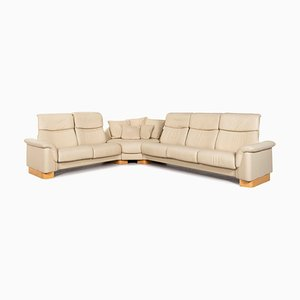 Paradise Cream Leather Corner Sofa with Relax Function from Stressless