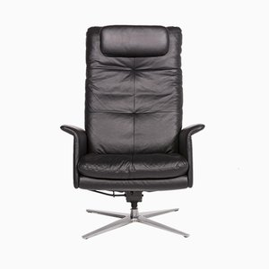 Black Leather Armchair with Relax Function from Willi Schillig