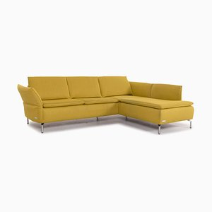 Kenza Fabric Corner Sofa in Yellow from Mondo