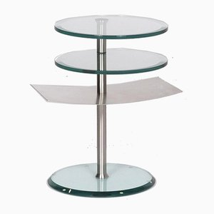 Glass & Aluminium Round Adjustable Coffee Table from de Sede