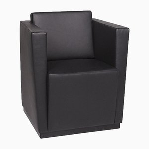 Elton 406 Black Leather Armchair from Walter Knoll