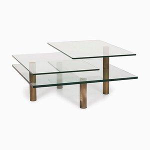 Imperial Glass Coffee Table with Function by Peter Draenert for Draenert