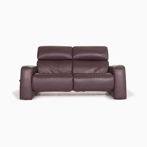 4960 Violet Leather Leather Sofa with Function from Himolla