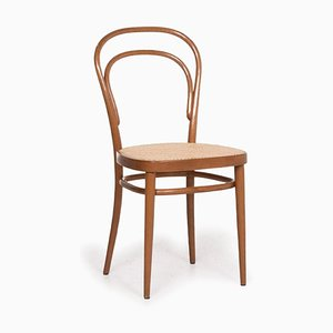 214 Brown Wood Armchair by Gebrüder Thonet for Thonet