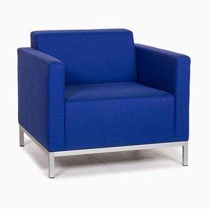 Blauer Armlehnstuhl mit Bezug aus Stoff von MDF Italia
