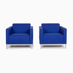 Blue Armchairs from MDF Italia, Set of 2