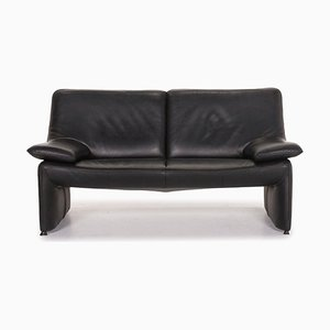 Atlanta Black Leather 2-Seat Sofa from Laauser