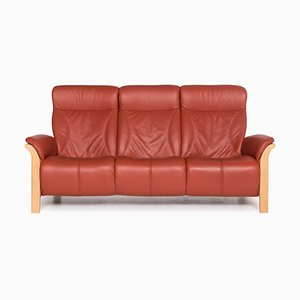 Windsor Red Leather 3-Seat Sofa from Himolla