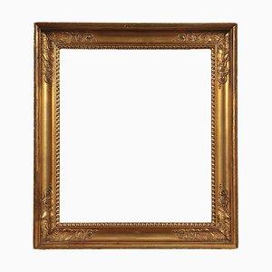 19th Century Italian Engraved and Glided Wood Frame