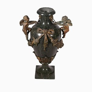 19th Century Italian Marble and Bronze Vase