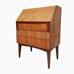 Mid-Century Archie Shine Walnut Writing Bureau Desk