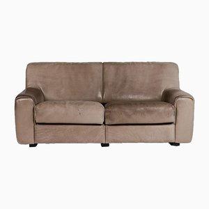 Braunes DS 2 Leder 2-Sitzer Sofa von de Sede