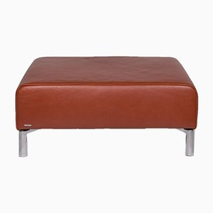 Brown Leather Ottoman from Koinor