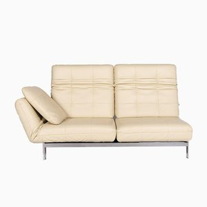 Agio Beige Leather 2-Seat Sofa with Function from Rolf Benz
