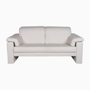 White Leather 2-Seat Sofa from Rolf Benz