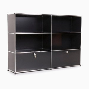 Metal Sideboard with Black Office Shelf from USM Haller