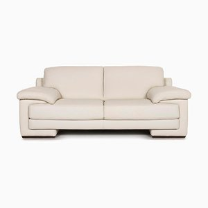 Cream Leather 2-Seat Sofa from Natuzzi