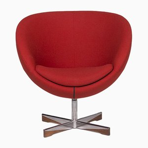 Planet Fabric Armchair Set in Red by Ivar Dysthe for Varier, Set of 2