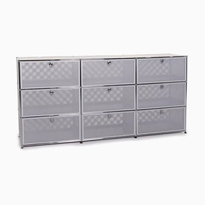 Metal Sideboard with Silver Grey Office from USM Haller