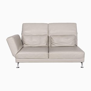 Moule Grey Leather 2-Seat Sofa with Relax Function by Roland Meyer-Brühl for Brühl & Sippold