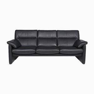 Dark Green Leather 3-Seat Sofa with Relax Function from Erpo