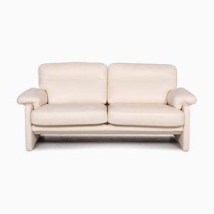 DS 70 Cream Leather 2-Seat Sofa from de Sede