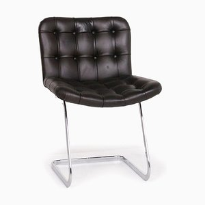 Black Leather Dining Chair from de Sede